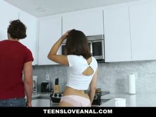 TeensLoveAnal - Brunette Teen Fucked In The Ass <span class=duration>- 10 min</span>