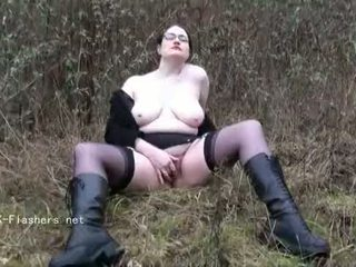 শৌখিন চমকানি alyss outdoors এবং নাদুশনুদুশ exhibitionist madster going নগ্ন মধ্যে pu