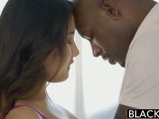 BLACKED Asian Babe Jade Luv Screams On Massive Black Cock