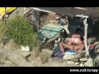 Wild Beach Sex caught on spy camera Video