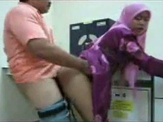 Hijab büro fick
