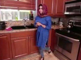 Arab Brunette Teen Ada Gets Filled