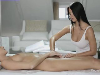 Lesbian sex with Silvie and Addison